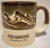 A & F Gift and Souvenir Co. New Hampshire Mountains Tall Stein  Green