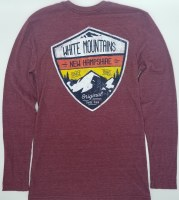 Duck Co. Alpine Crest New Hampshire Long Sleeve Tee L Heather Maroon