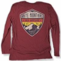 Duck Co. Alpine Crest New Hampshire Long Sleeve Tee XS Heather Maroon