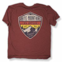 Duck Co. Alpine Crest New Hampshire S/S Tee XX-Large Heather Burgandy