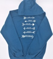 Luba Designs Arrows North Conway, New Hampshire Hoodie L Legion Blue