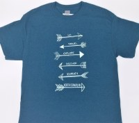 Luba Designs Arrows North Conway, New Hampshire Tee S Midnight