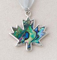 A.T. Storrs Silver Bells Maple Leaf Ornament