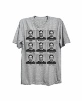 The Boston Sports Apparel Faces Of Bill T-Shirt Small Grey
