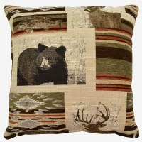 Creative Home Furnishings Bennington Pillow 17x17 Moss
