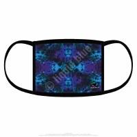 Liquid Blue Blue Mandala Tie Dye Face Covering One Size
