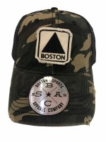 The Boston Sports Apparel Landmark Classic Boston Citgo Trucker Hat OS CAMO