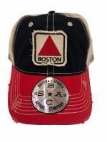 The Boston Sports Apparel Landmark Classic Boston Citgo Trucker Hat OS RD/NVY