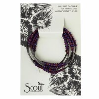 Scout Currated Wears Scout Wrap Bracelet/Necklace SW Dahlia/Hematite