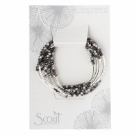 Scout Currated Wears Scout Wrap Bracelet/Necklace SW Eclipse/Silver