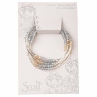 Scout Currated Wears Scout Wrap Bracelet/Necklace SW Mist Combo/Silver