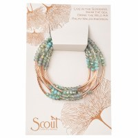 Scout Currated Wears Scout Wrap Bracelet/Necklace SW Neptune/Rose Gold