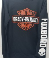 FBG Brady/Belechick Shield L/S Tee Small Black