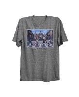 "The Boston Sports Apparel Boston Legends ""Patriots"" Blue Line T-Shirt XXX-Large Heather Grey"