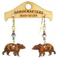 Handcrafters Gifts Black Bear Walking N/A Cherry Wood
