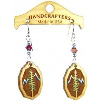 Handcrafters Gifts Trees & Mountains N/A Cherry Wood