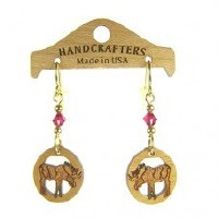 Handcrafters Gifts Moose In Oval N/A Cherry Wood