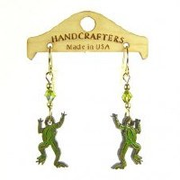 Handcrafters Gifts Frog N/A Cherry Wood