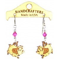 Handcrafters Gifts Flying Pig N/A Cherry Wood