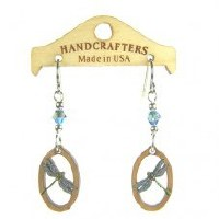 Handcrafters Gifts Dragonfly In Oval N/A Cherry Wood