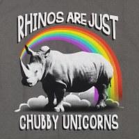 T Line Chubby Unicorns S/S Tee Large Charcoal