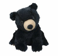 Warmies Cozy Plush Black Bear Full Size Black Bear