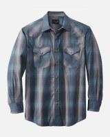 Pendleton L/S Frontier Shirt M Blue/Grey Dobby Plaid