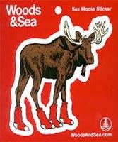 Woods & Sea Sox Moose Decal No Size Sox Moose