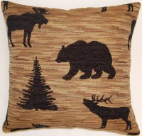 Creative Home Furnishings Denali Pillow 17x17 Black