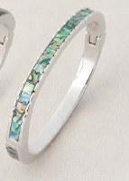 A.T. Storrs Diamond Cut Hinged Bracelet