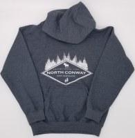 Luba Designs Diamond New Hampshire Adult Hoodie Small Graphite