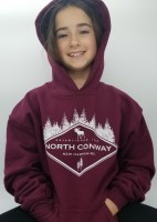 Luba Designs Diamond New Hampshire Youth Hoodie Small Maroon
