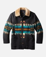 Pendleton Brownsville Shearling Collar Coat Medium Pathfinder