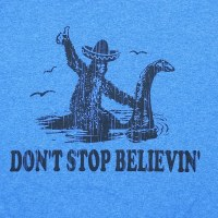 Pacific Art Don't Stop Believing S/S Tee Small Heather Royal