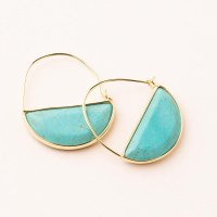 Scout Currated Wears Stone Prism Hoop Earring STONE PRISM HOOP  Turquoise/Gold