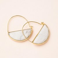 Scout Currated Wears Stone Prism Hoop Earring STONE PRISM HOOP  Howlite/Gold