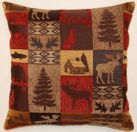 Creative Home Furnishings Fairbanks Pillow 17x17 Red