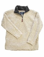 Live Oak  Quarter-Zip Fleece Medium Oatmeal/Charcoal