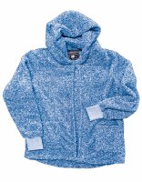 Live Oak  Cardigan Hood Fleece  S Blue
