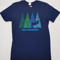 Woods & Sea Forest View New Hampshire Tee XX-Large Navy