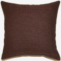 Creative Home Furnishings Grandstand Pillow 17x17 Chocolate