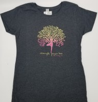 Duck Co. Growing Strength Women's S/S Tee X-Large Heather Charcoal