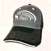 Royal Resortwear New Hampshire Two-Tone Ball Cap One Size Charcoal/Black