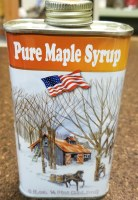 Turkey Street Maples New Hampshire Pure Maple Syrup Half Pint Tin