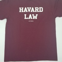 LA Imprints Havard Law S/S Tee Small Maroon