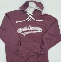 Luba Designs New Hampshire Hockey Hoodie Small Heather Maroon