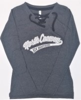 Luba Designs Ladies Hockey Long Sleeve Tee Small Charcoal