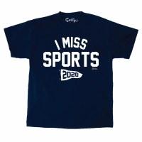 Sully's Tees I Miss Sports S/S Tee S Navy