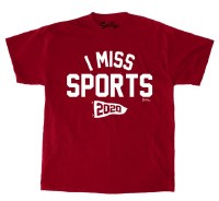 Sully's Tees I Miss Sports S/S Tee S Red