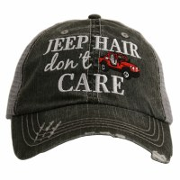 KATYDID Jeep Hair Don't Care Trucker Hat  One Size Grey